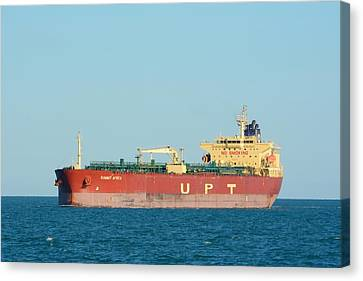 Canvas Print featuring the photograph The Oil Tanker Summit Africa by Bradford Martin