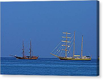 The Old And The New-st Lucia Canvas Print by Chester Williams