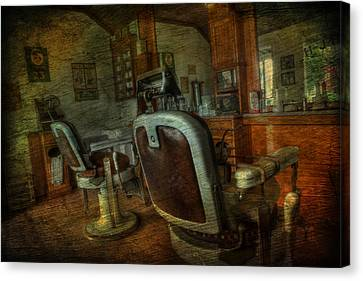 The Old Barbershop - Vintage - Nostalgia Canvas Print by Lee Dos Santos