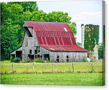 The Old Barn Canvas Print by Charles Dobbs