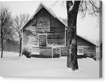 The Old Barn Canvas Print by Julie Lueders