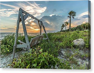 The Old Beach Swing -  Sullivan's Island, Sc Canvas Print
