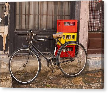 The Old Bicycle Canvas Print by Rae Tucker