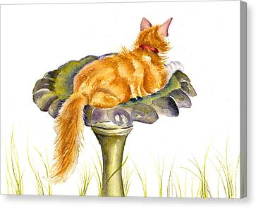 The Old Birdbath Canvas Print
