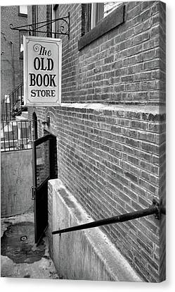 Canvas Print featuring the photograph The Old Book Store by Karol Livote