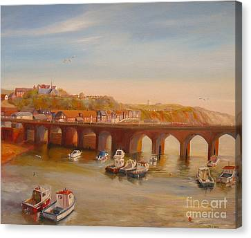 The Old Bridge - Folkestone Harbour Canvas Print by Beatrice Cloake