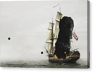 The Old Brit Canvas Print by Tyler Martin