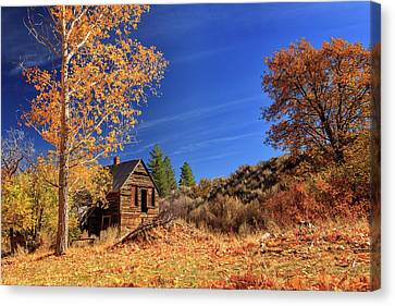 The Old Bunkhouse Landscape Canvas Print by James Eddy