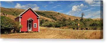 Red School House Canvas Print - The Old Capetown School House by James Eddy