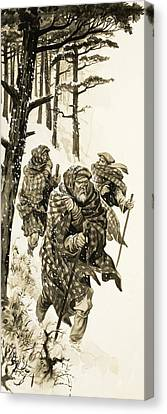 The Old Chief Of Glencoe Canvas Print by Peter Jackson