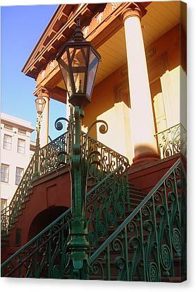 The Old City Market In Charleston Sc Canvas Print by Susanne Van Hulst