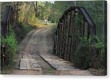 Canvas Print featuring the photograph The Old Country Bridge by Kim Henderson