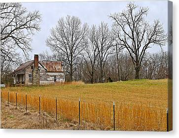 Canvas Print featuring the photograph The Old Country Home by Ron Dubin