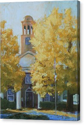 The Old Courthouse, 9am Canvas Print by Carol Strickland