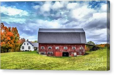 The Old Dairy Barn Etna New Hampshire Canvas Print by Edward Fielding