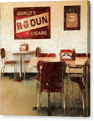 The Old Diner Canvas Print by Dan Sproul