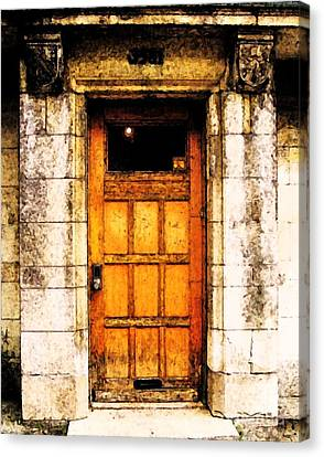 The Old Door Canvas Print by Reb Frost