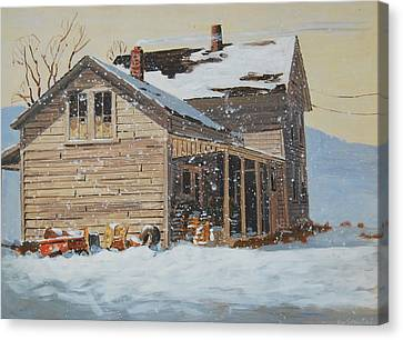 the Old Farm House Canvas Print by Len Stomski