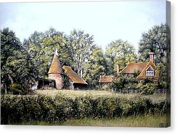 Canvas Print featuring the painting The Old Farm by Rosemary Colyer