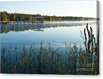 Canvas Print featuring the photograph The Old Fishing Pier by Tamyra Ayles