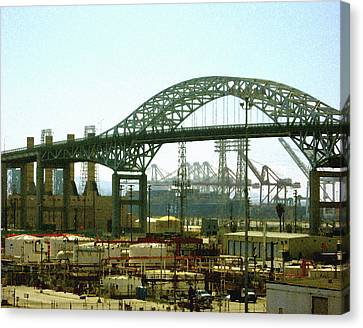 The Old Gerald Desmond Bridge Canvas Print