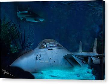 The Old Guard For The Tomcat Canvas Print by Mark Vizcarra