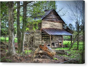 The Old Home In The Hills Canvas Print