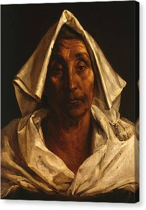 The Old Italian Woman Canvas Print by Theodore Gericault