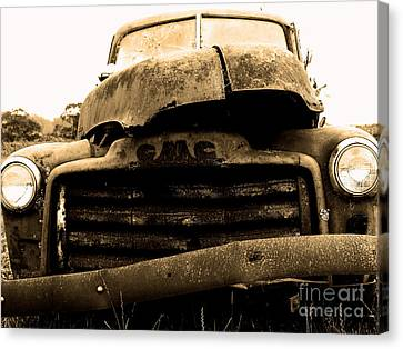 Old American Truck Canvas Print - The Old Jalopy . 7d8396 by Wingsdomain Art and Photography