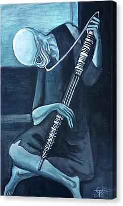 The Old Kloonhornist Canvas Print