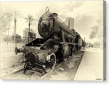 The Old Locomotive Canvas Print by Uri Baruch