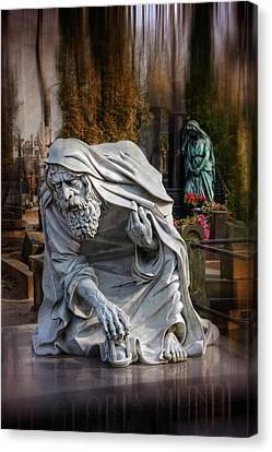 Old Man Canvas Print - The Old Man Of Powazki Cemetery Warsaw  by Carol Japp