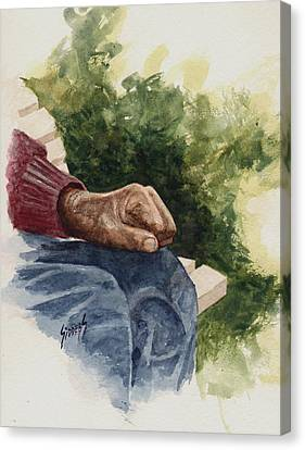 The Old Man's Hand Canvas Print