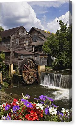 The Old Mill - D000662 Canvas Print by Daniel Dempster