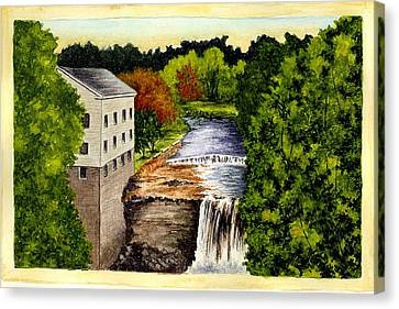Old Mills Canvas Print - The Old Mill - Mill Creek Park by Michael Vigliotti