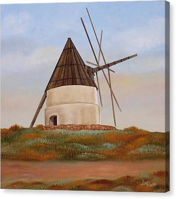 The Old Mill Canvas Print by Angeles M Pomata