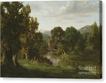 Old Mill Scenes Canvas Print - The Old Mill by George Inness