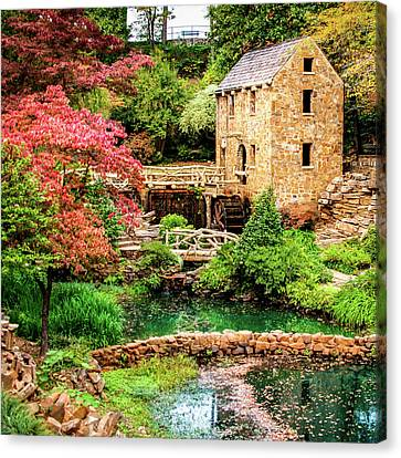 The Old Mill In Spring - Pughs Mill - North Little Rock Canvas Print