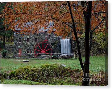Canvas Print - The Old Mill New England  by April Bielefeldt