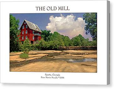 The Old Mill Canvas Print by Peter Muzyka