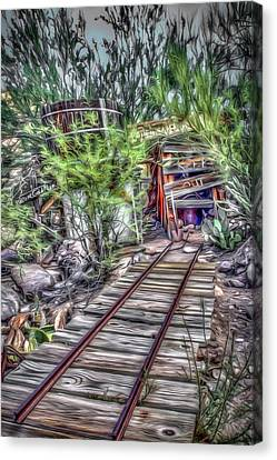 The Old Mine Entrance Canvas Print by Dan Stone