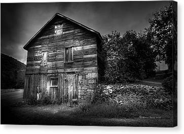 Wood Shed Canvas Print - The Old Place by Marvin Spates