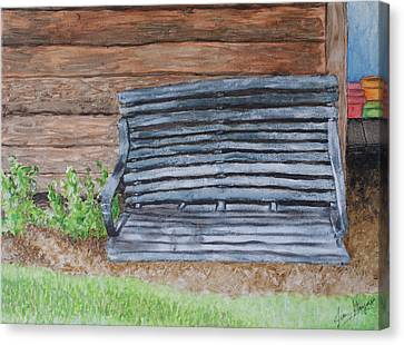 The Old Porch Swing Canvas Print by Jean Haynes