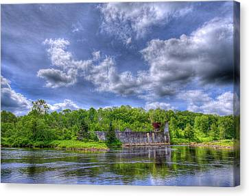The Old Pulp Mill At Mckeever Canvas Print by David Patterson