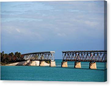 The Old Railroad To The Keys Canvas Print by Susanne Van Hulst