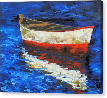 The Old Red Boat II  Canvas Print by Torrie Smiley