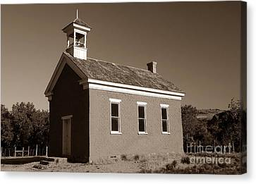 The Old Schoolhouse Canvas Print by David Lee Thompson
