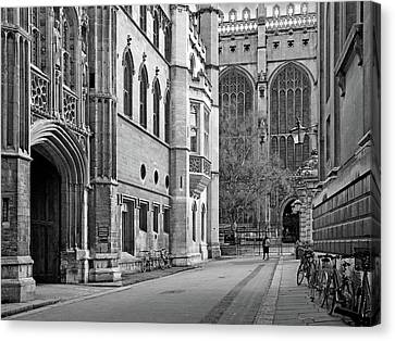 Canvas Print featuring the photograph The Old Schools University Offices Cambridge by Gill Billington