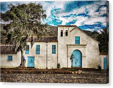The Old Spanish Church Canvas Print by Michael Evans