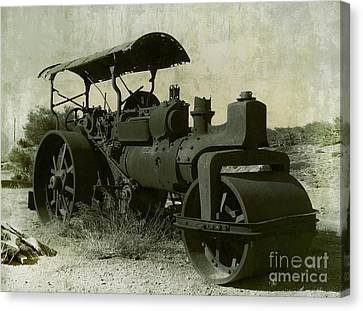 The Old Steam Roller Canvas Print by Christo Christov